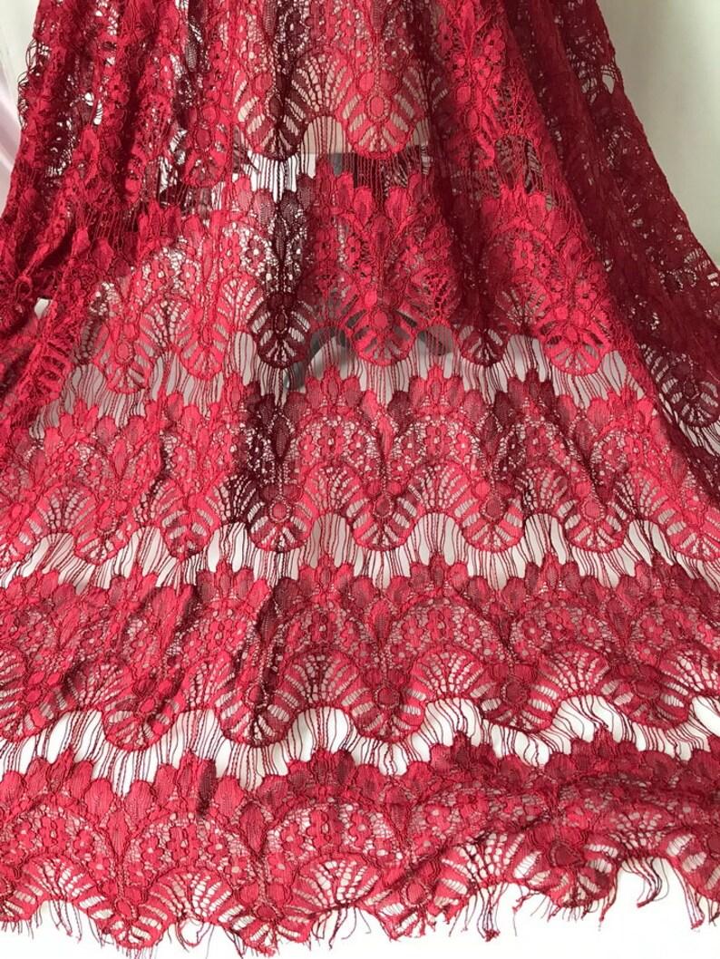 Beautiful scallops lace fabric 59 wide eyelash lace fabric by the yard