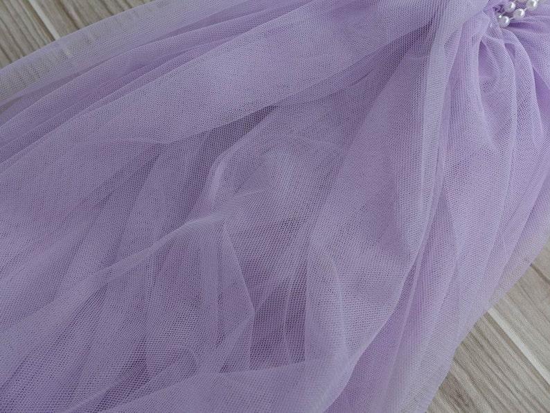 Lavender Tulle Lace Bridal Illusion Tulle Fabric Baby Tutu image 0