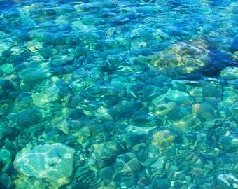 Ocean Art Prints, Turquoise Art, Ocean Floor Photography, Peaceful Art