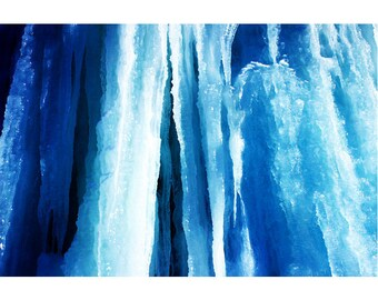 """Icicle Photography, Modern Wall Art, Limited Edition Print, Blue Abstract Art, """"Blue Fantasy"""""""