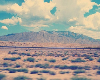 Highway Photography, Wanderlust Art, Travel Photography, Vintage Mountain Photography, New Mexico