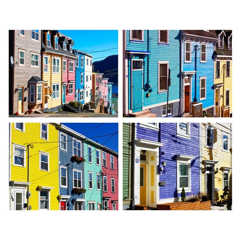 Jelly Bean Row >> Newfoundland Art Prints Jelly Bean Row Art St John S Art Newfoundland Canada Art Set Of 4 Prints