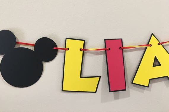 Mickey Mouse High Chair Banner Decorations 1st Birthday Decoration