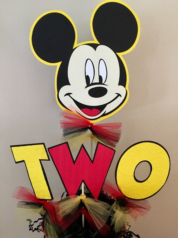 Mickey Mouse Decorations Table Centerpiece Picks St Birthday 2nd Party