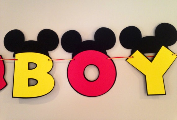 Itu0027s A Boy Mickey Mouse Baby Shower Banner Mickey Mouse
