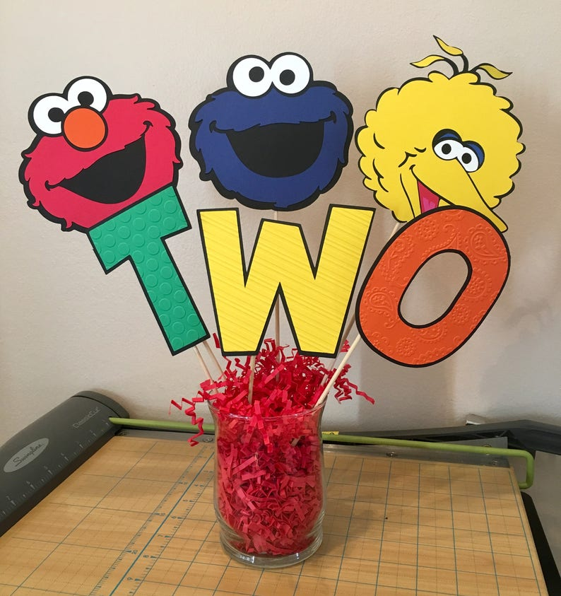 Sesame Street Decorations Birthday Table Centerpiece Elmo