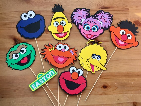 Sesame Street Decorations Table Centerpiece Sticks Elmo Cookie