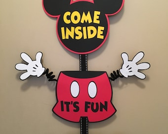 Mickey Mouse Party Door Sign Mickey Party Banner Mickey Decorations Mickey Mouse Birthday Decorations Mickey Birthday Mickey Birthday Banner