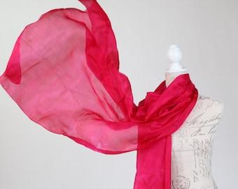 9b0663c608 Magenta silk scarf
