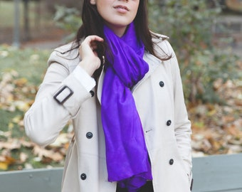 Electric Purple Silk Scarf