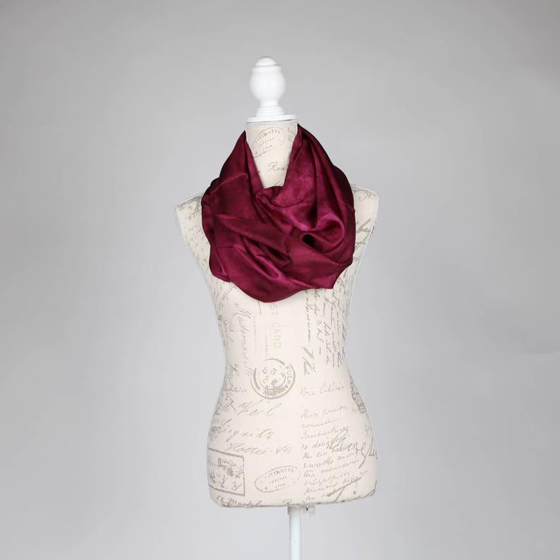 6d4b63394fe Bordeaux foulard foulard en soie écharpe légère foulard mod