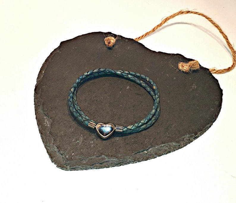 ab7e69fac Pandora-style leather wrap charm bracelet. Double wrap braided | Etsy