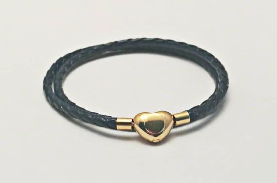 44cb614a8 ... reduced pandora style leather wrap charm bracelet. double wrap braided  etsy 79fff ae6c1