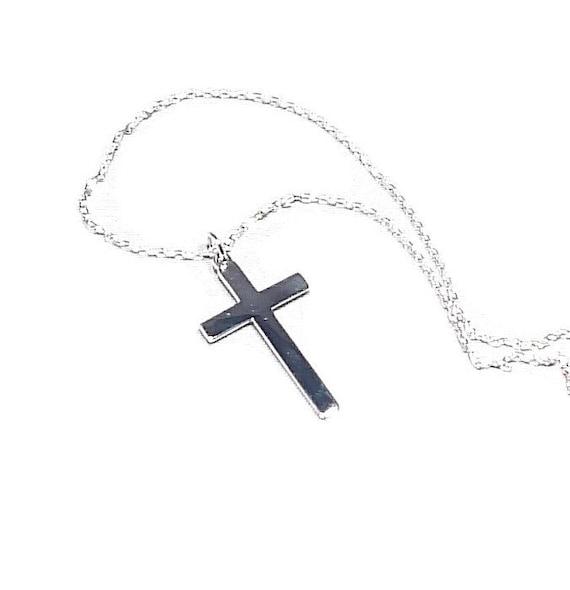 925 Sterling Silver Cross Pendant with Semi Precious So Chic Jewels