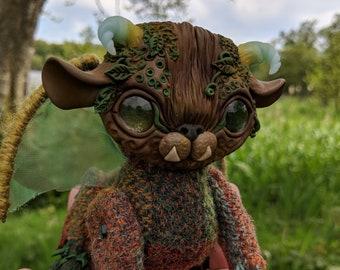 Treegoyle Female Tweedling OOAK Handmade Harris Tweed Art Doll