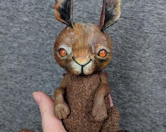 Hare Tweedling OOAK Handmade Harris Tweed Art Doll