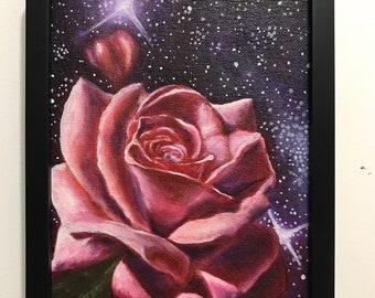 """Pink Rose, 6x8"""""""
