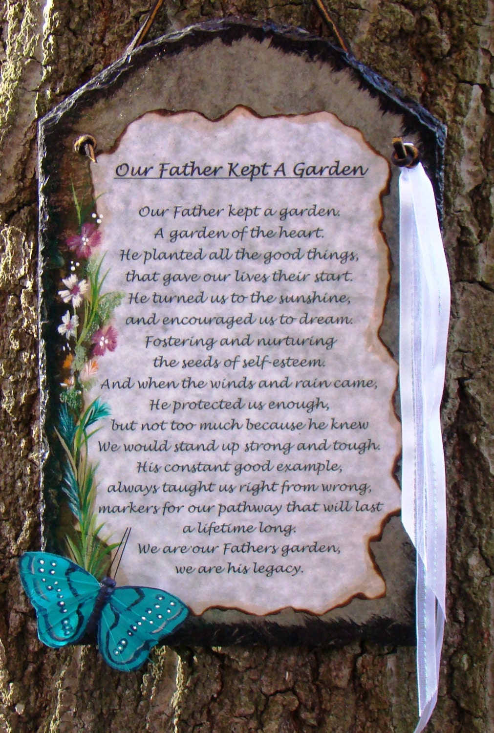 Our Father Kept A Garden Verse For Dad Personalized Unique Etsy