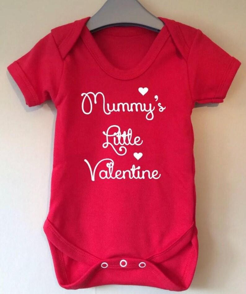 My 1st Valentines Valentine/'s 2019 Baby/'s First Baby Grow Bodysuit Vest Cute