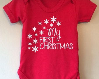 My first Christmas baby body/vest/onesie