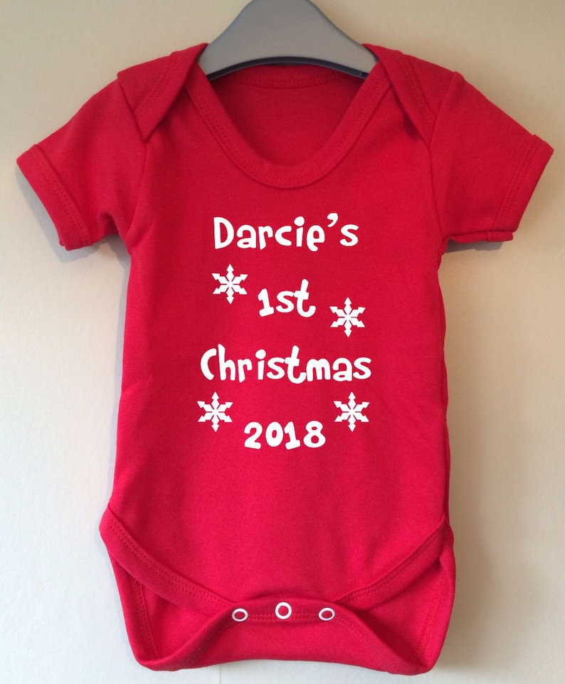 5c74b3759 1st Christmas 2018 personalised with you babies name | Etsy