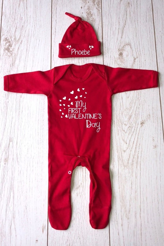 d7727c776 My First Valentine s Day with personalised matching hat
