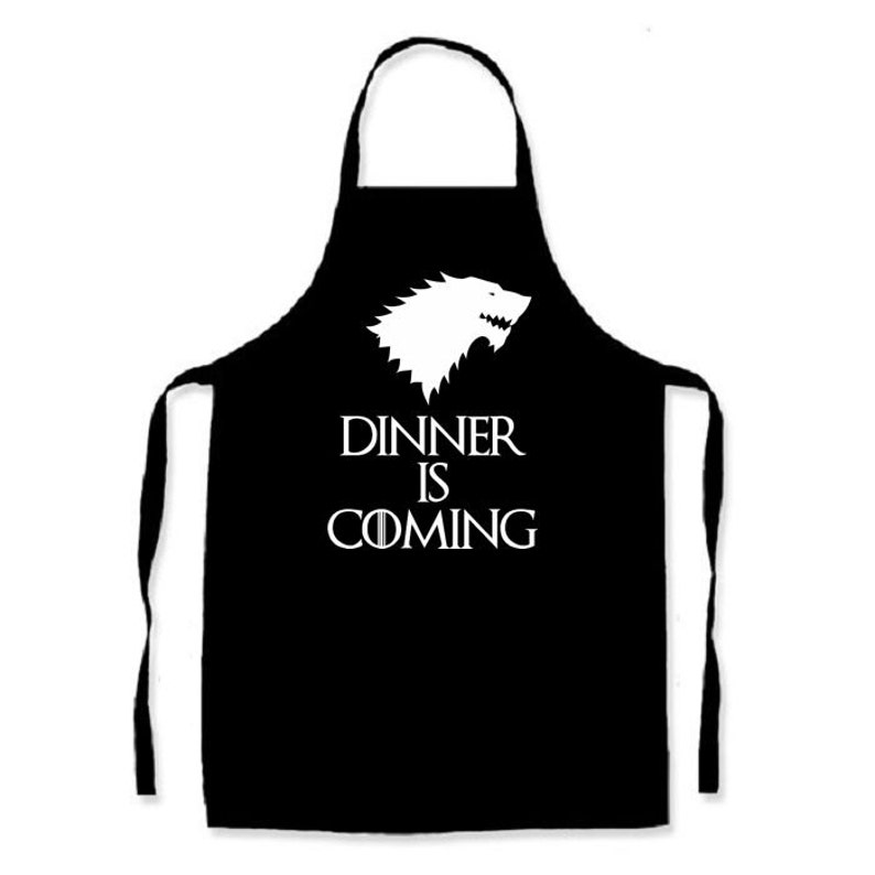 Dinner is Coming   Adults apron  Width 72cm  Length 86cm  image 0