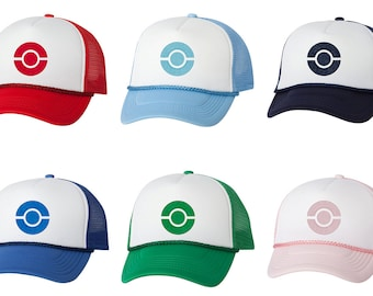 Embroidered Pokemon Trainer Hats c1a2c259b9a