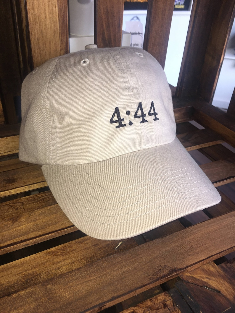 Jay Z 4:44 Embroidered Classic Dad Hat Khaki Black