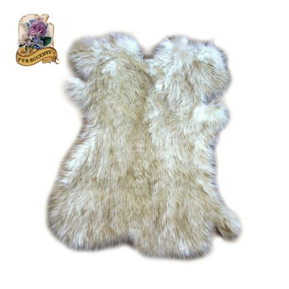 Premium Faux Fur Pelt Skin Hide Shape Area Rug Carpet