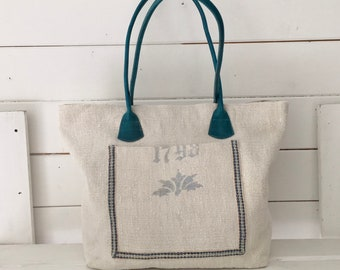 Grain Sack-Rush Handbags