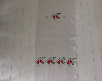 Embroidered Tea Towel Linen