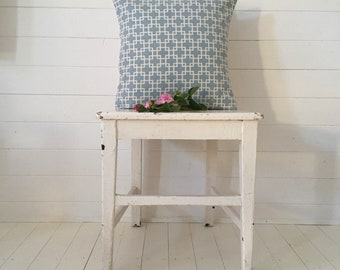 Roma Duck Egg Blue and Vintage Hungarian Hand Spun Linen Cushion Pillow COVER ONLY Linen Rustic Interior Homeware
