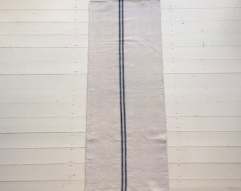 NS1907 Blue Stripe Natural Limestone Vintage Linen Grainsack