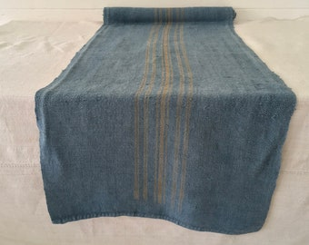 DLR1904 Natural Dyed Grey Blue Vintage One Piece Linen