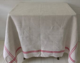 NCT1204 Red Stripe Tablecloth Linen for Cafe Tables