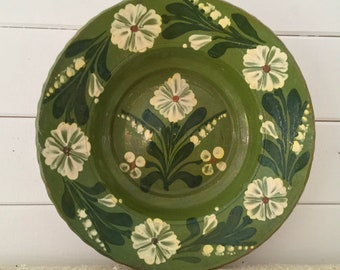 HT3 Rustic Terracotta Hungarian Pottery Ceramic Plate