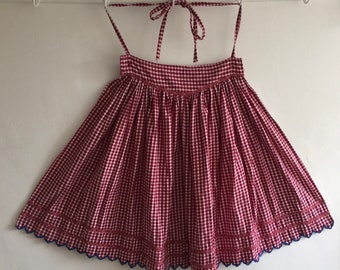 Brushed Cotton Apron Vintage Hungarian Folk