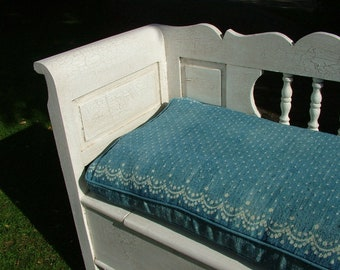Custom Made 100% Feather Box Cushion Bench Cushions
