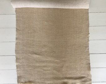 Natural Limestone Sandy Vintage Floppy Linen Table Runner Upholstery Fabric Cushions Sewing Projects NLR2107 Washed and ready to Go