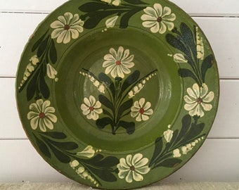 HT2 Rustic Terracotta  Hungarian Pottery Ceramic Plate