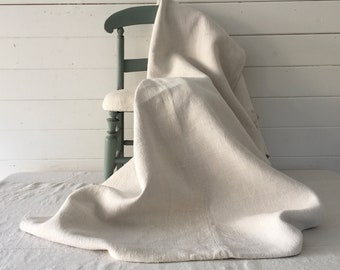 Off White Mattress Cover Hand Spun Linen for Upholstery Bolsters Cushions Sewing Projects Jacket Headboard MC2102 Washed and ready to go