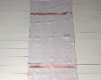 Red Stripe Tea Towel Linen