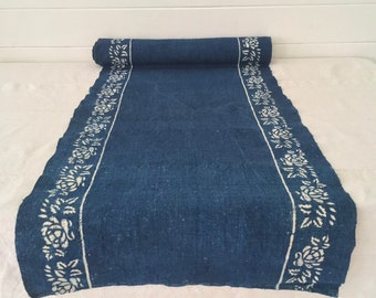 Indigo Dyed Dog Rose Linen Roll-Linen Price Per Metre-  DLR1910