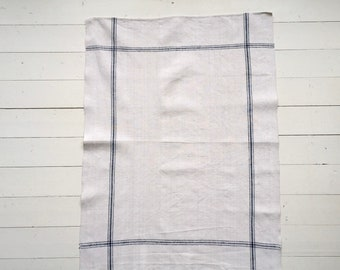 NTT1907 Dark Blue Stripe Tea Towel Linen