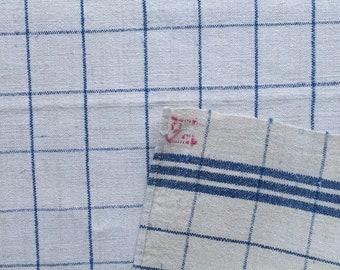 Blue Stripe Tea Towel Linen with 'Pd' Monogram