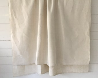 Off White Tablecloth Hand Spun Linen with Open Thread Work Hems Sewing Projects Blinds Curtains Washed and ready to Go NLS2111