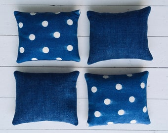 Faded Indigo Linen Lavender Pillows Bags Sachets
