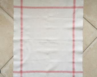 Pink Stripe Tea Towel  Handmade Linen NTT2013