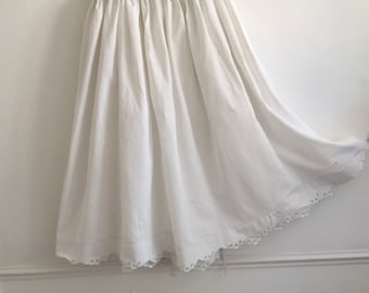 White Petticoat Circle Skirt Vintage Hungarian Folk Skirt